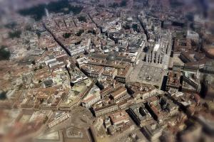 Milan Duomo Aerial view