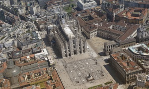 Milan aerial photography