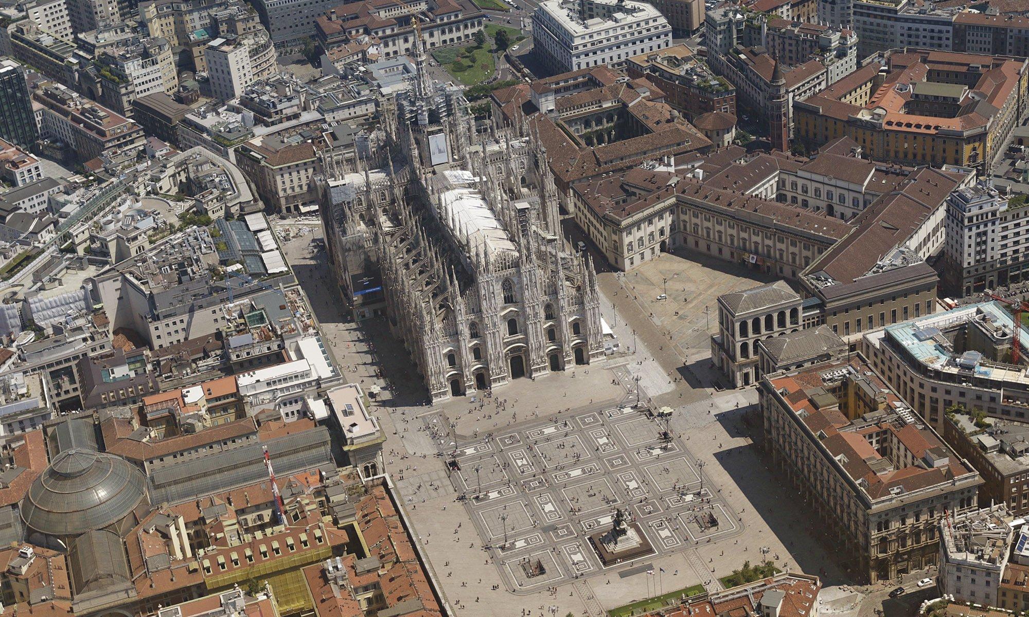 Milan aerial photography