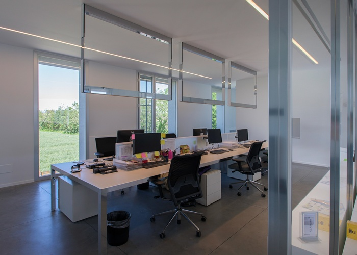 corporate interior architectural photographer clariant headquarters